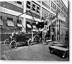 Automobile Assembly Line Acrylic Print by Underwood Archives