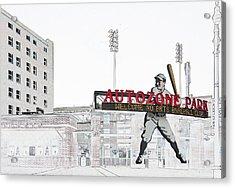Autozone Park Memphis Acrylic Print by Liz Leyden