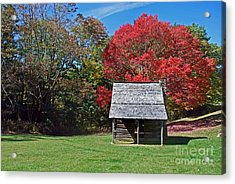 Autum For A Mountain Home Acrylic Print by Skip Willits