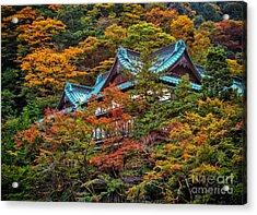 Acrylic Print featuring the photograph Autum In Japan by John Swartz