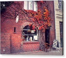 Acrylic Print featuring the photograph Autumal Facade With Ivy Autumn by Art Photography