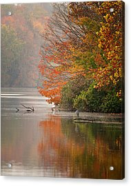 Autumn - Lake Logan Acrylic Print