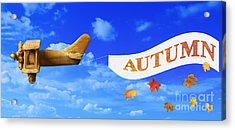 Autumn Advertising Banner Acrylic Print
