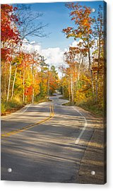 Autumn Afternoon On The Winding Road Acrylic Print