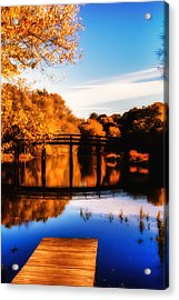 Autumn Afternoon Wears On Acrylic Print