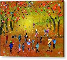 Autumn Amble Acrylic Print by Neil McBride