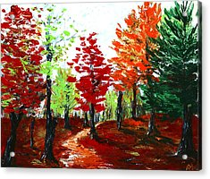 Autumn Acrylic Print by Anastasiya Malakhova