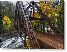 Autumn And Iron Acrylic Print by Mark Kiver