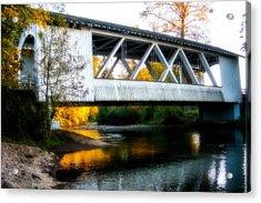 Autumn And The Larwood Bridge Acrylic Print