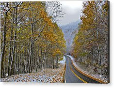 Autumn And Winter Acrylic Print by Susan Leggett