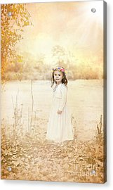 Autumn Angel Acrylic Print by Cindy Singleton
