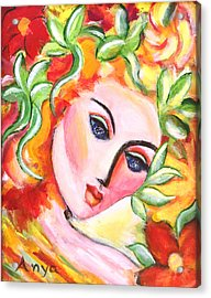Acrylic Print featuring the painting Autumn by Anya Heller