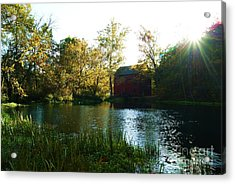 Acrylic Print featuring the photograph Autumn At Alley Spring And Mill by Julie Clements
