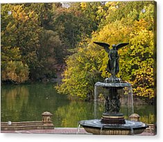 Autumn At Bethesda Acrylic Print