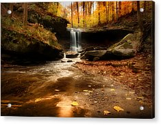 Autumn At Blue Hen Falls Acrylic Print