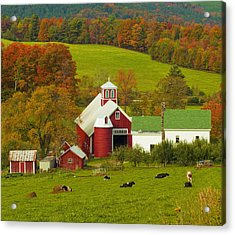 Autumn At Bogie Mountain Dairy Farm Acrylic Print