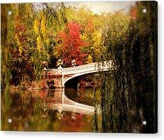 Autumn At Bow Bridge Acrylic Print by Jessica Jenney