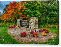 Autumn At Chain O'lakes State Park Acrylic Print by Gene Sherrill