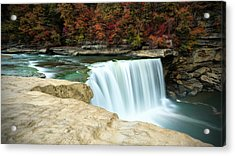 Autumn At Cumberland Falls Acrylic Print