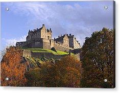 Autumn At Edinburgh Castle Acrylic Print