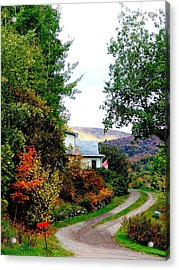 Autumn At French River Acrylic Print by Janet Ashworth