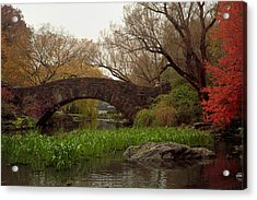 Autumn At Gapstow Bridge Acrylic Print