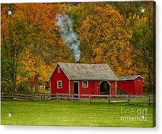 Autumn At Hale Farm Acrylic Print by Joshua Clark