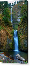 Autumn At Multnomah Falls Acrylic Print