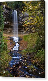 Autumn At Munising Falls Acrylic Print