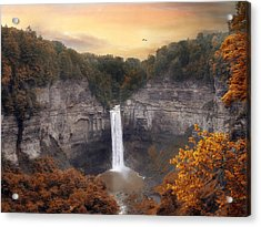 Autumn At Taughannock Acrylic Print by Jessica Jenney