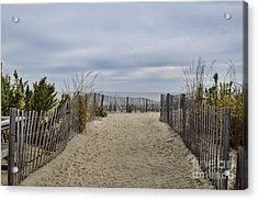 Autumn At The Beach Acrylic Print by Judy Wolinsky