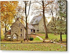 Autumn At The Cloister Acrylic Print by Jean Goodwin Brooks