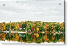 Autumn At The Lake - Pocono Mountains Acrylic Print by Vivienne Gucwa