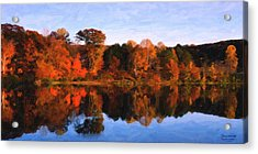 Autumn At The Lake Acrylic Print by Spyder Webb
