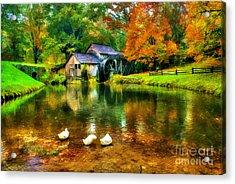 Autumn At The Mill Acrylic Print