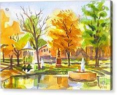 Autumn At The Villa Acrylic Print by Kip DeVore