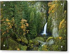 Autumn At Wahclella Acrylic Print