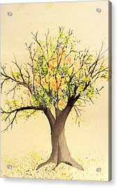 Autumn Backyard Tree Acrylic Print