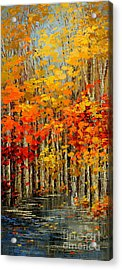 Autumn Banners Acrylic Print
