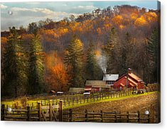 Autumn - Barn - The End Of A Season Acrylic Print