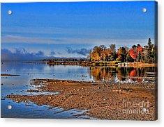 Autumn Beach Solitude Acrylic Print by Cathy  Beharriell