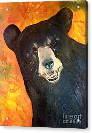 Acrylic Print featuring the painting Autumn Bear by Jan Dappen
