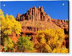 Autumn Beneath The Castle Acrylic Print