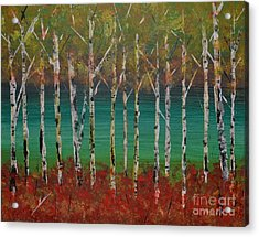 Autumn Birches Acrylic Print by Denise Tomasura