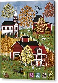 Autumn Blessings Acrylic Print by Medana Gabbard