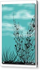 Autumn Blue Sky Acrylic Print