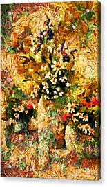Autumn Bounty - Abstract Expressionism Acrylic Print