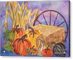 Autumn Bounty Acrylic Print by Ellen Levinson