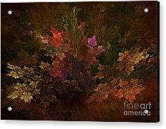 Acrylic Print featuring the digital art Autumn Bouquet by Olga Hamilton