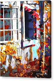 Autumn Breeze Through Open Windows    Windows Acrylic Print by Barbara D Richards